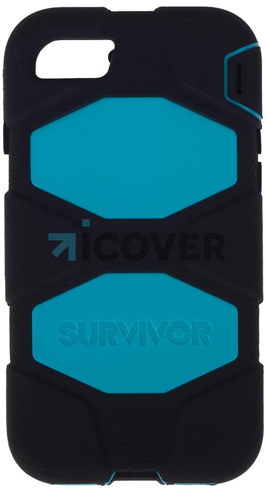 Griffin Survivor - противоударный чехол для iPhone 7 (Black/Light Blue)