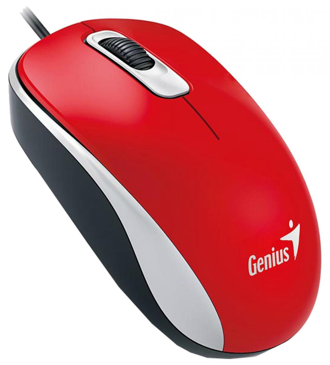 Genius DX-110 - проводная мышь (Red) genius hs 300a silver