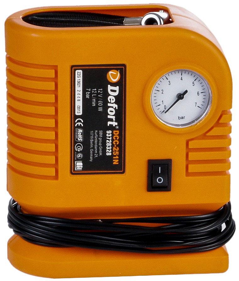 Defort DCC-251N (93728328) - автомобильный компрессор (Orange)