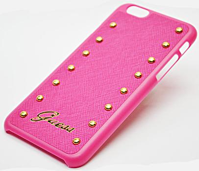 Чехол-накладка Guess Studded Hard (GUHCP6SAP) для iPhone 6/6S (Pink)