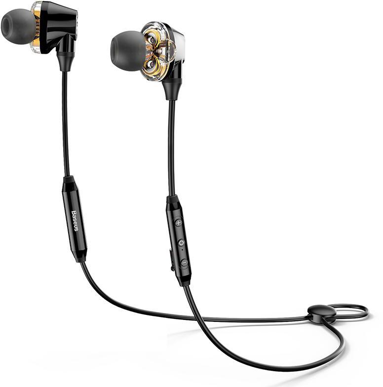 Bluetooth-наушники с микрофоном Baseus Encok S10 Dual Dynamic NGS10-01 (Black)