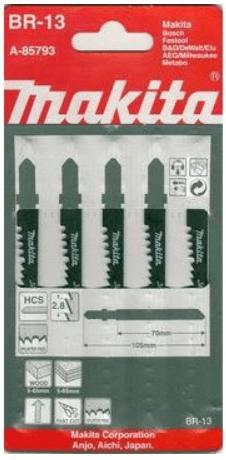 Makita A-85793 - полотно пильное для лобзика по дереву (5 шт.)