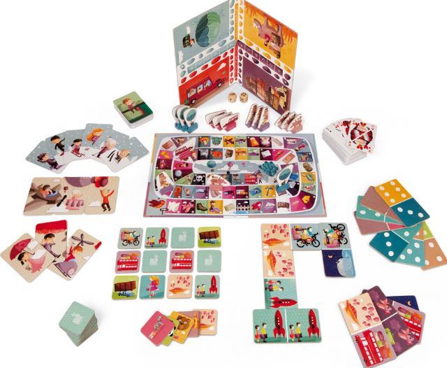 Janod Туроператор (J02973) - набор настольных игр, 6 шт (Multicolor)