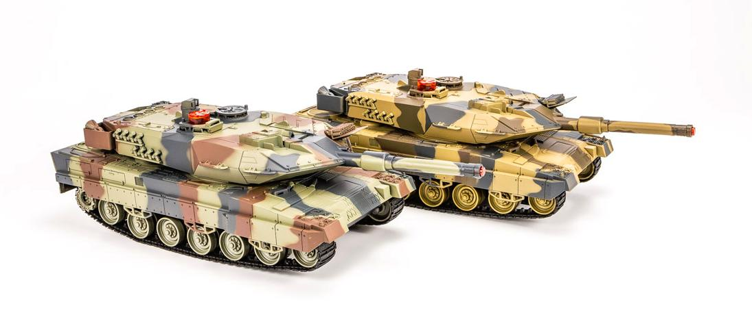 Leopard Infrared Remote Control Battle Tank Set