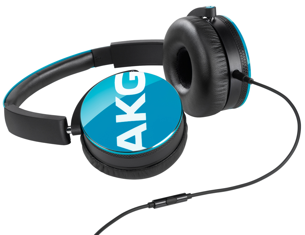 AKG Y50 TEL - накладные наушники с микрофоном (Blue)