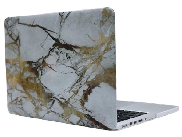 Чехол-накладка пластиковая i-Blason для Macbook Pro Retina 15 (White/Gold Marble)