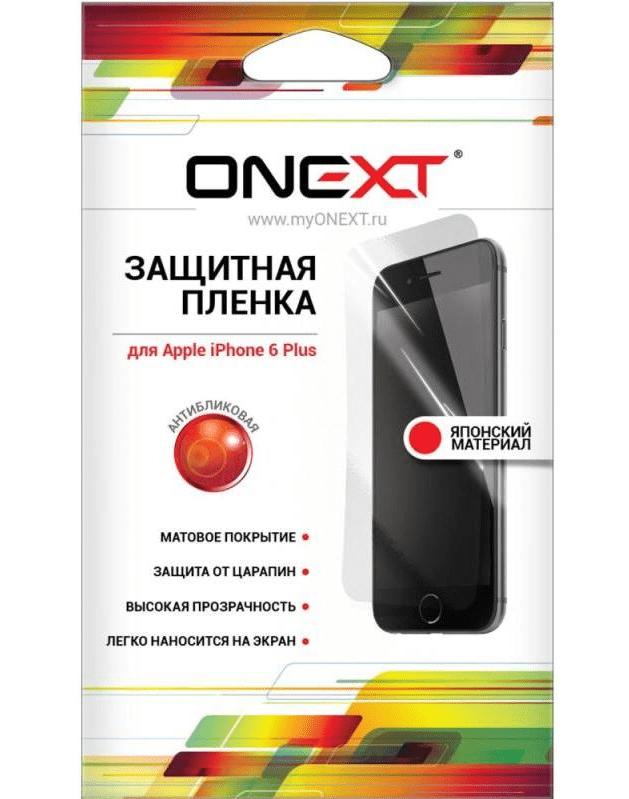 Комплект защитных пленок Onext Protective Film для iPhone 6 Plus (40819)