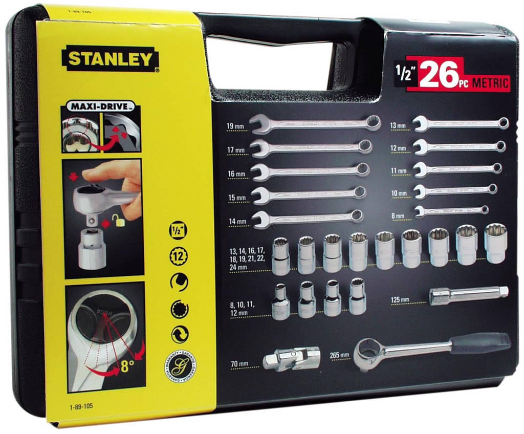 Stanley Торцевые головки 1/2 1-89-105