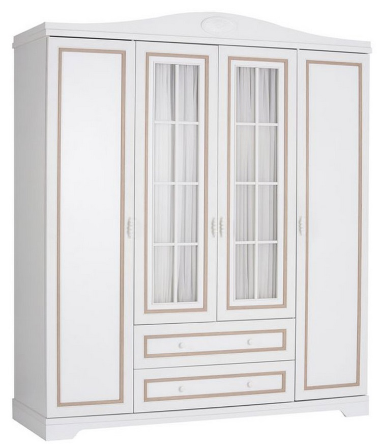 NewJoy Bella BL-1007 (10-515-1007) - шкаф 4-х дверный (White)