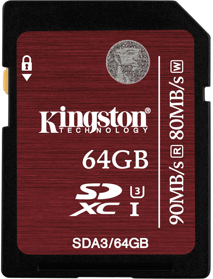 Kingston SDXC U3 UHS-I 64Gb (SDA3/64GB) - карта памяти (Brown)