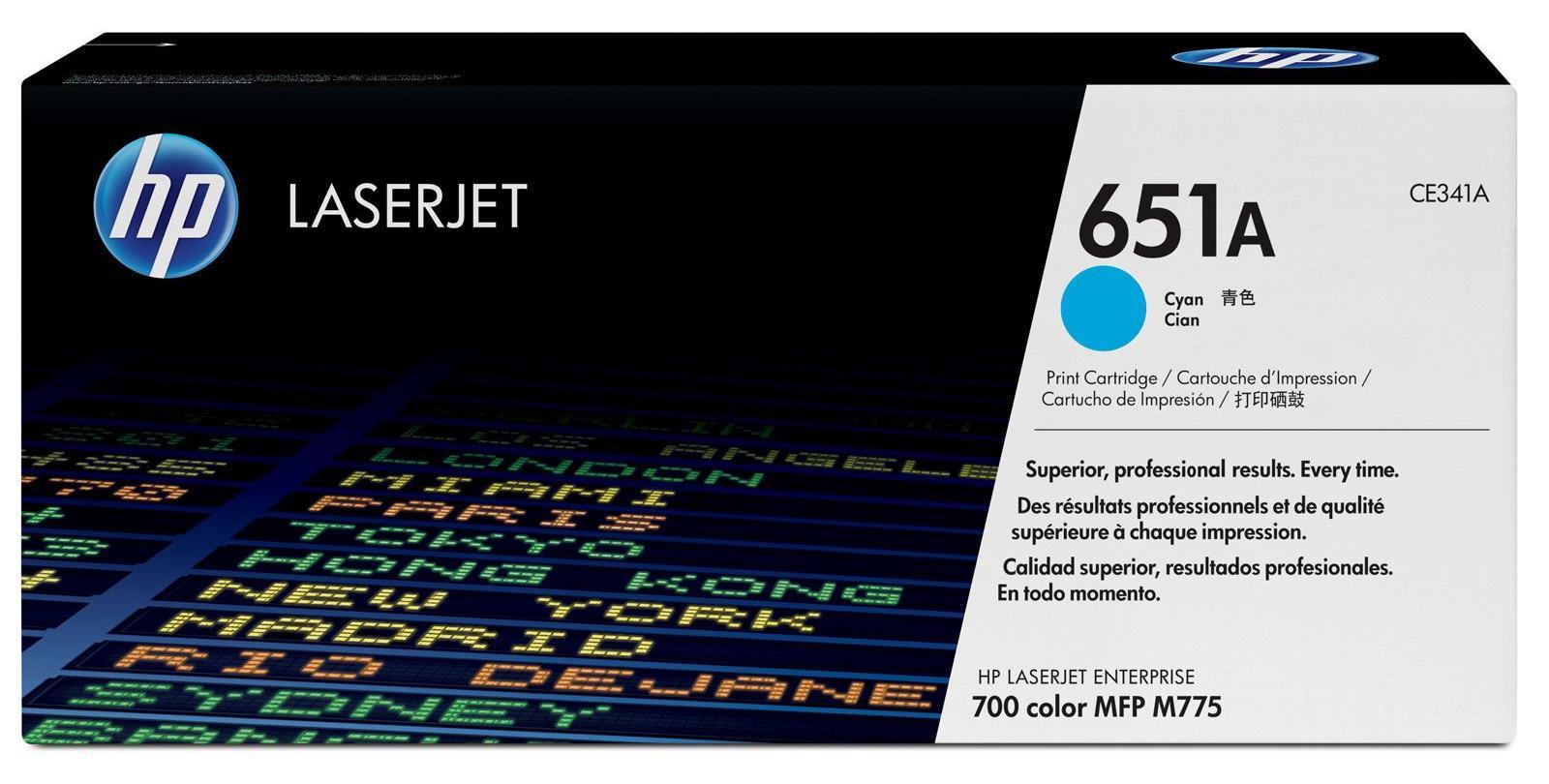 HP 651A (CE341A) - картридж для принтера HP LaserJet (Cyan)