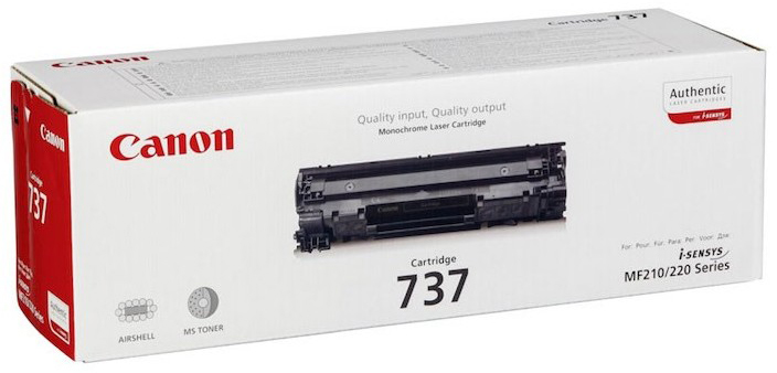 Canon 737 (9435B004) - картридж для принтеров Canon i-SENSYS MF211/212/216/217/226/229 (Black)