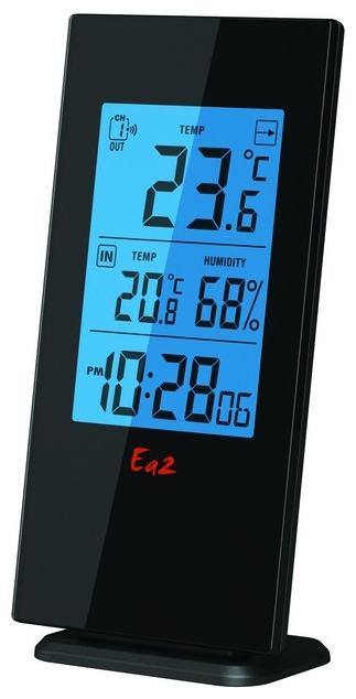 Ea2 BL502 - термометр с часами (Black)