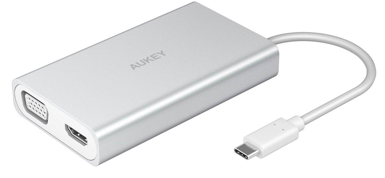 aukey Aukey Multiport USB-C Hub (CB-C55) - USB-хаб (Silver)
