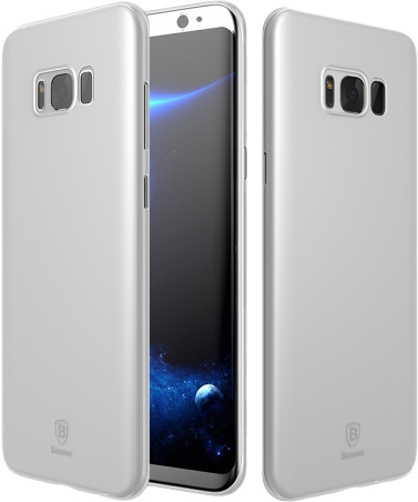 Baseus Wing Case (wisas8-02) - чехол-накладка для Samsung Galaxy S8 (Transparen White)