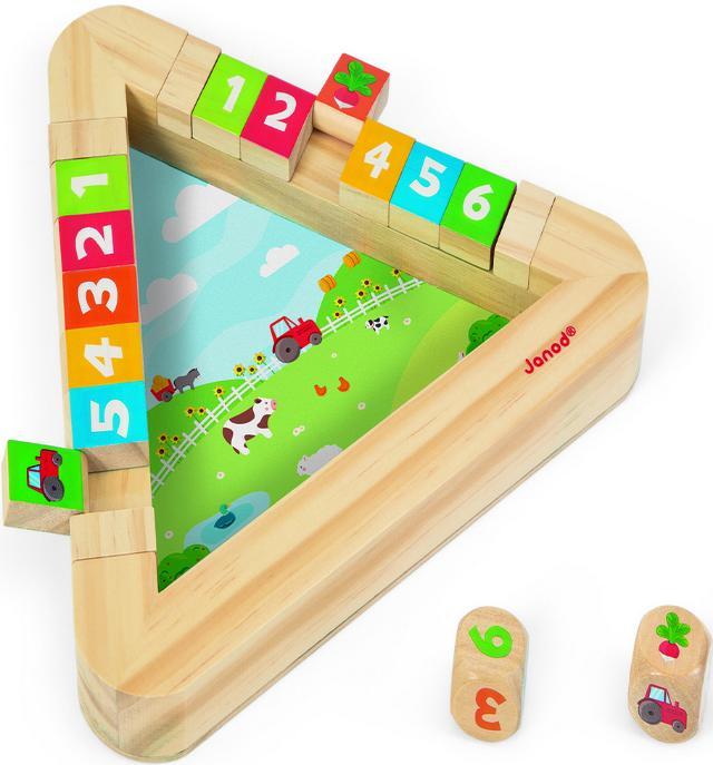 Janod Огород (J08150) - настольная игра с кубиками (Мulticolor)Развивающие игрушки<br>Настольная игра с кубиками<br>