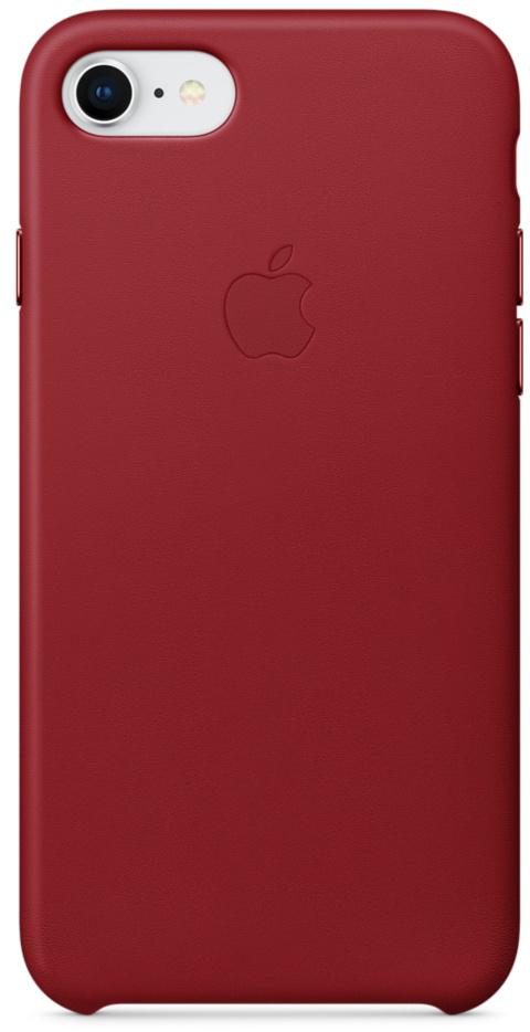 Чехол Apple Leather Case MQHA2ZM/A для iPhone 7/8 (Red)