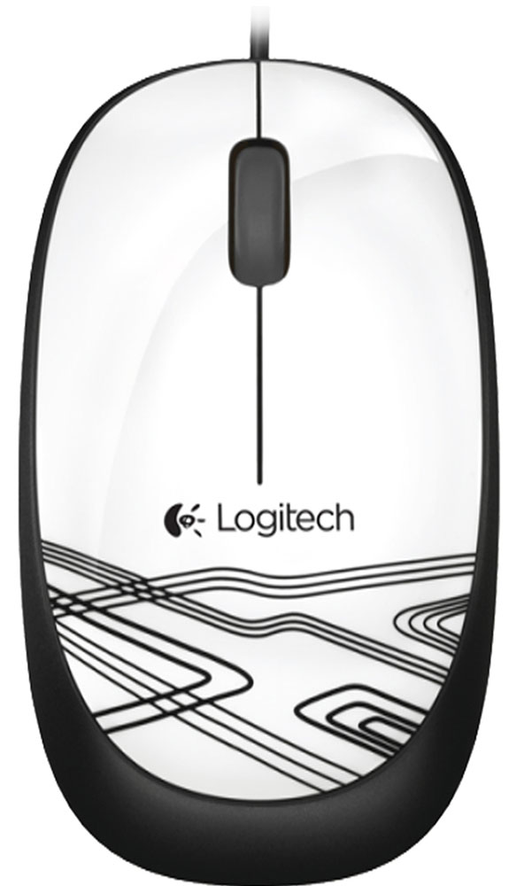 Logitech Corded Optical Mouse M105 USB 910-003117