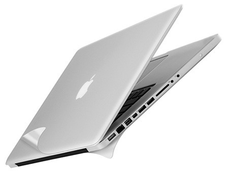 Защитная пленка на нижнюю и верхнюю часть Macbook Pro 13 (Silver)