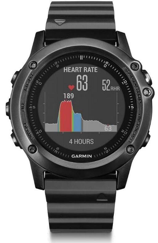 Спортивные часы Garmin Fenix 3 HR 010-01338-7E (Sapphire Slate Grey/Steel)