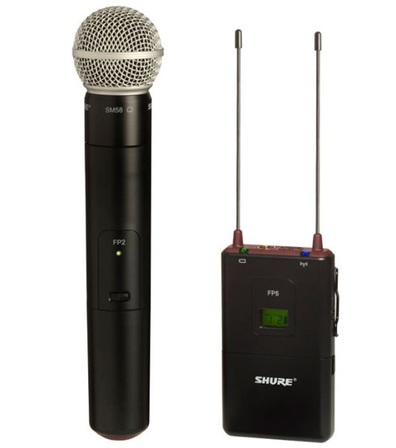 Shure FP25/SM58 - портативная радиосистема с капсюлем SM58 (Black) A042087