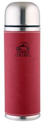 Арктика 0,5 л (108-500) - термос с узким горлом и кожаной вставкой (Красный)Термосы и термокружки<br>Термос<br>