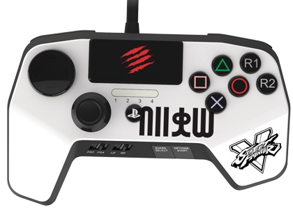 Mad Catz FightPad Pro Street Fighter V Edition (SFV89250BSA1/04/1) - геймпад для PS3/PS4 (White)