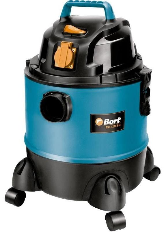 Bort BSS-1220-Pro (98291797) - пылесос промышленный (Blue/Black)Строительные пылесосы<br>Пылесос промышленный<br>
