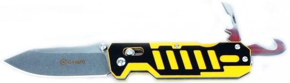Ganzo G735 (G735-YB) - складной нож с дополнительными инструментами (Yellow/Black)