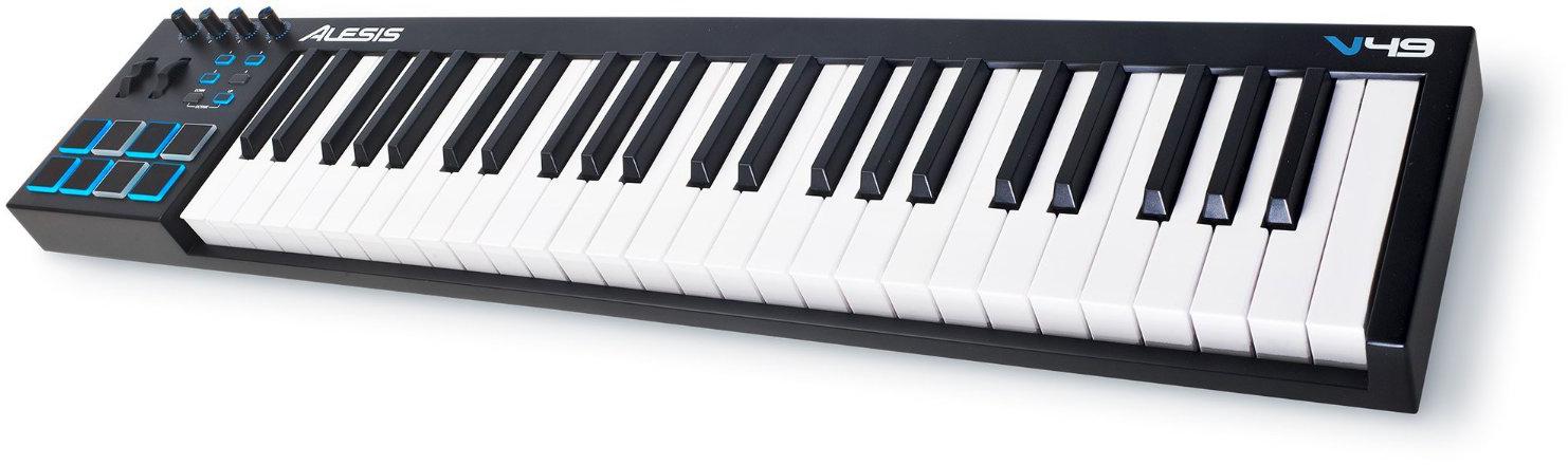 Alesis V49 - миди-клавиатура (Black) midi контроллер alesis sample pad