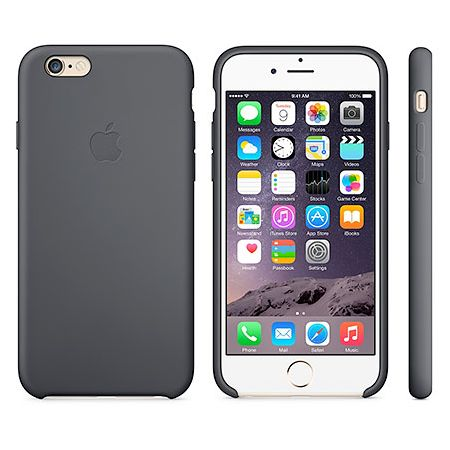 iPhone 6 Silicone Case (MGQF2ZM) - чехол для iPhone 6 (Black)