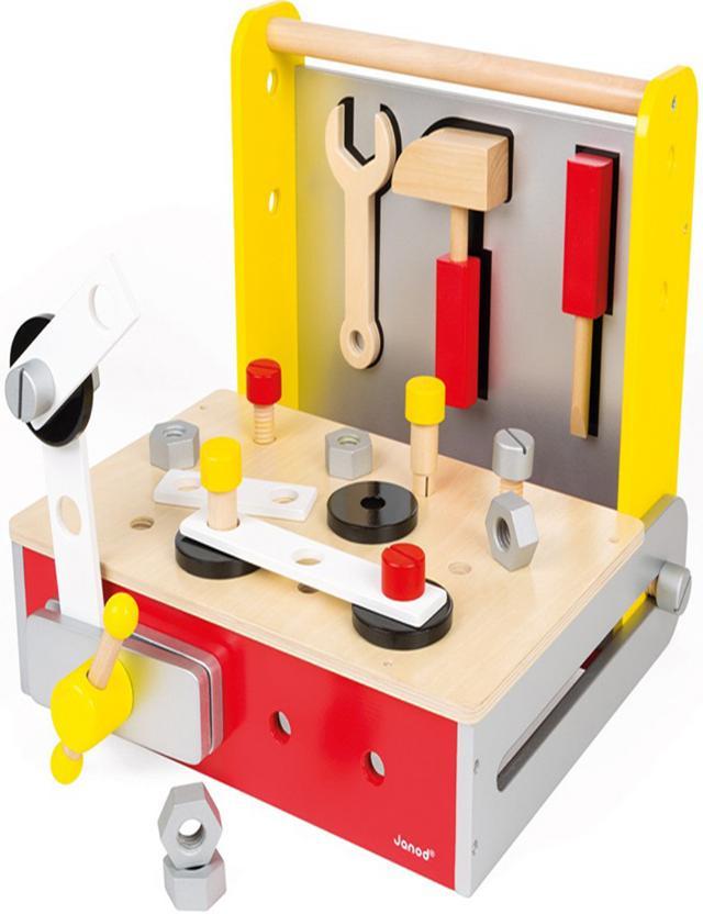 Janod Мастерская (J06489) - набор-чемоданчик инструментов, 25 предметов
