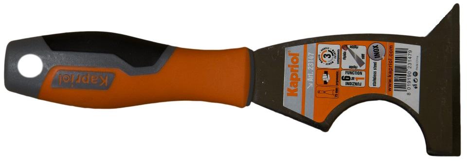 Kapriol 80 мм (23147) - шпатель-скребок 6 в 1 жесткий