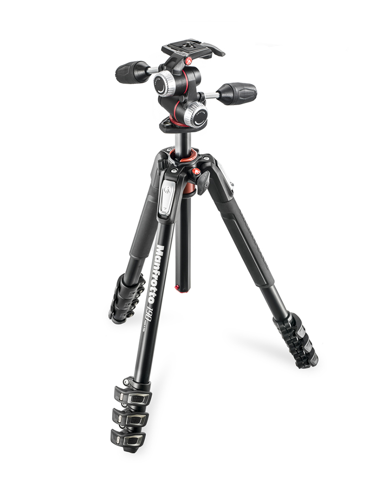 Manfrotto MK190XPRO4-3W - штатив + 3D-головка для фотокамер