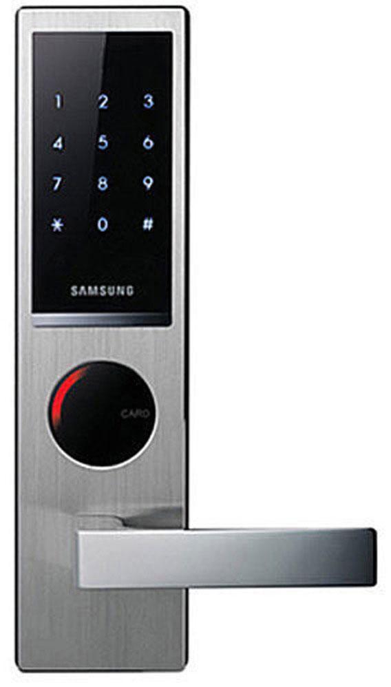 Samsung SHS-H635 FBS/EN (6020) - электронный дверной замок с ручкой (Silver)