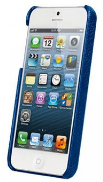 Vetti Craft Leather Snap Cover (IPO5LES1110104) - чехол для iPhone 5/5S/SE (Dark Blue) от iCover