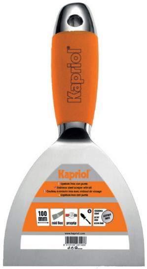 Kapriol 100 мм (23203) - жесткий кованый полированный шпательШтукатурные инструменты<br>Жесткий кованый полированный шпатель<br>