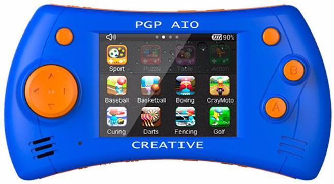 PGP AIO Creative 32 bit (MGS11-B) - портативная игровая приставка (Blue/Orange)Игровые приставки Dendy<br>Портативная игровая приставка<br>