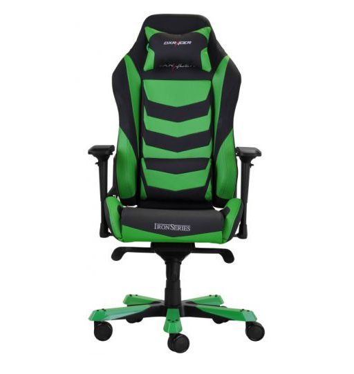 DXRacer OH/IS166/NE - компьютерное кресло (Black/Green)