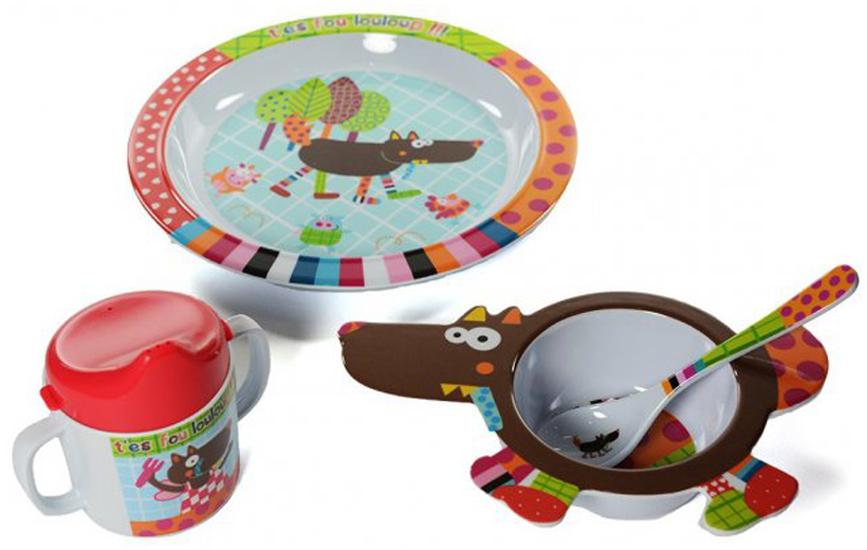 EbuLobo Волчонок (04EB0015) - детский набор посуды из 4 предметов