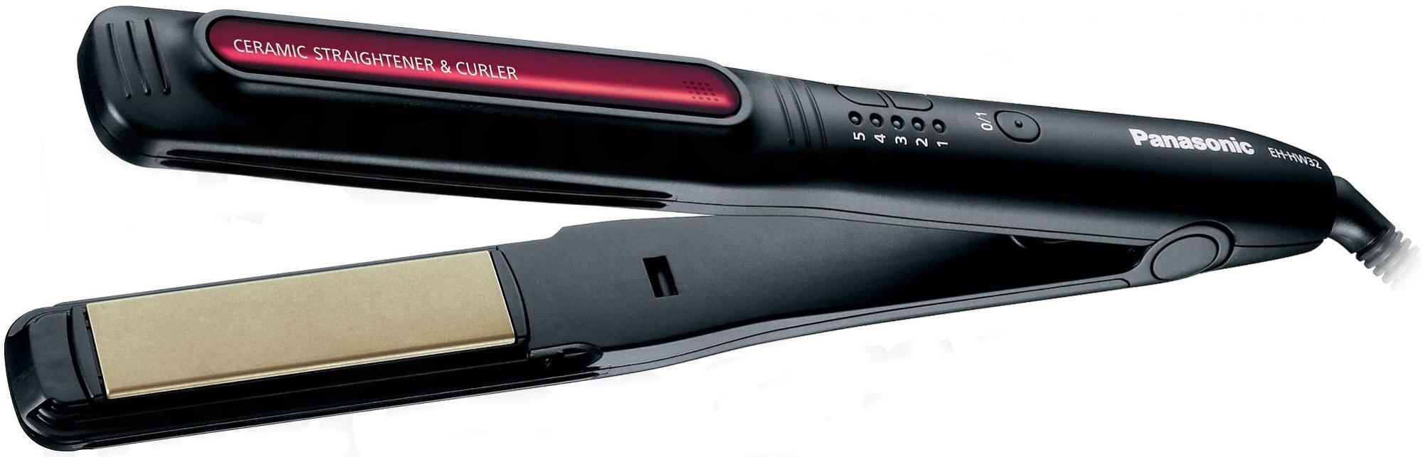 Щипцы Panasonic EH-HW32-K865 - щипцы для выпрямления волос (Black/Red)