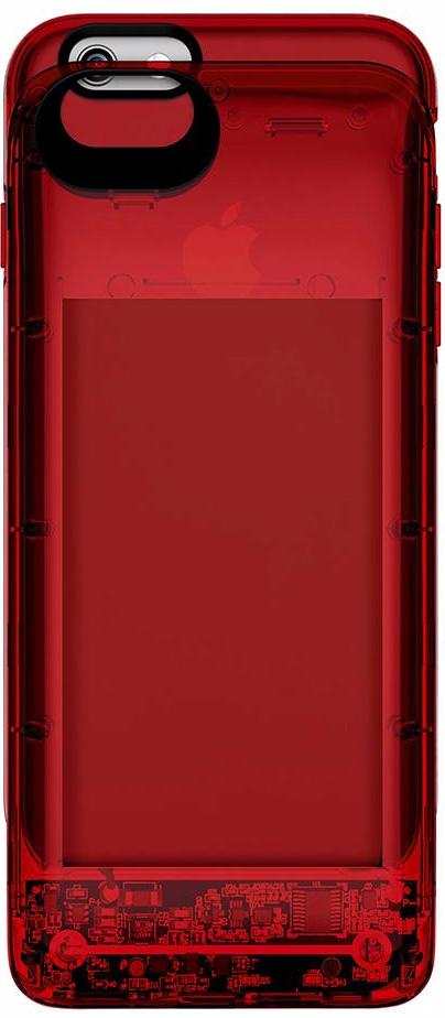 Boostcase Hybrid Power Case 2700 мАч (BCH2700IP6-RBY) - чехол-аккумулятор для iPhone 6/6S (Transparent Red)