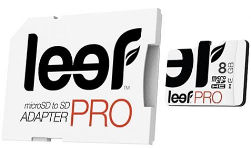 Leef PRO microSDHC 8Gb UHS1 (LFMSDPRO-00810R) - карта памяти с адаптером (White) 100% new and original fotek photoelectric switch ph08 03n npn