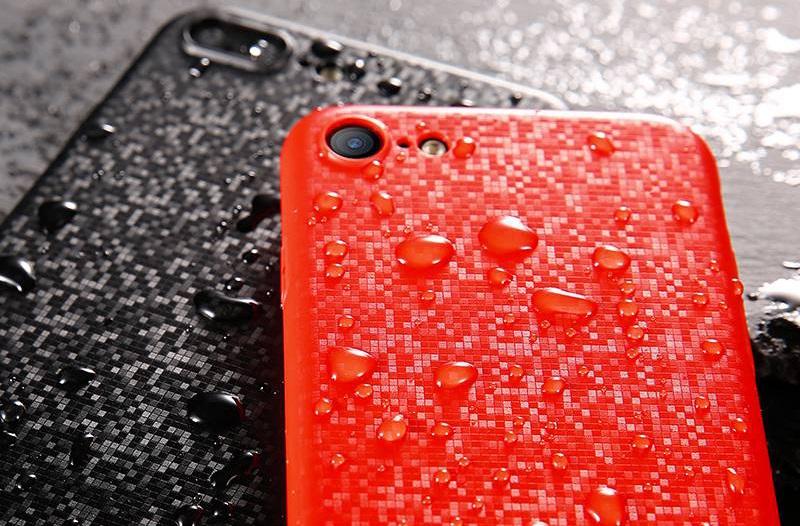 Чехол-накладка Baseus Plaid Case (WIAPIPH7-GP09) для iPhone 7 (Red)