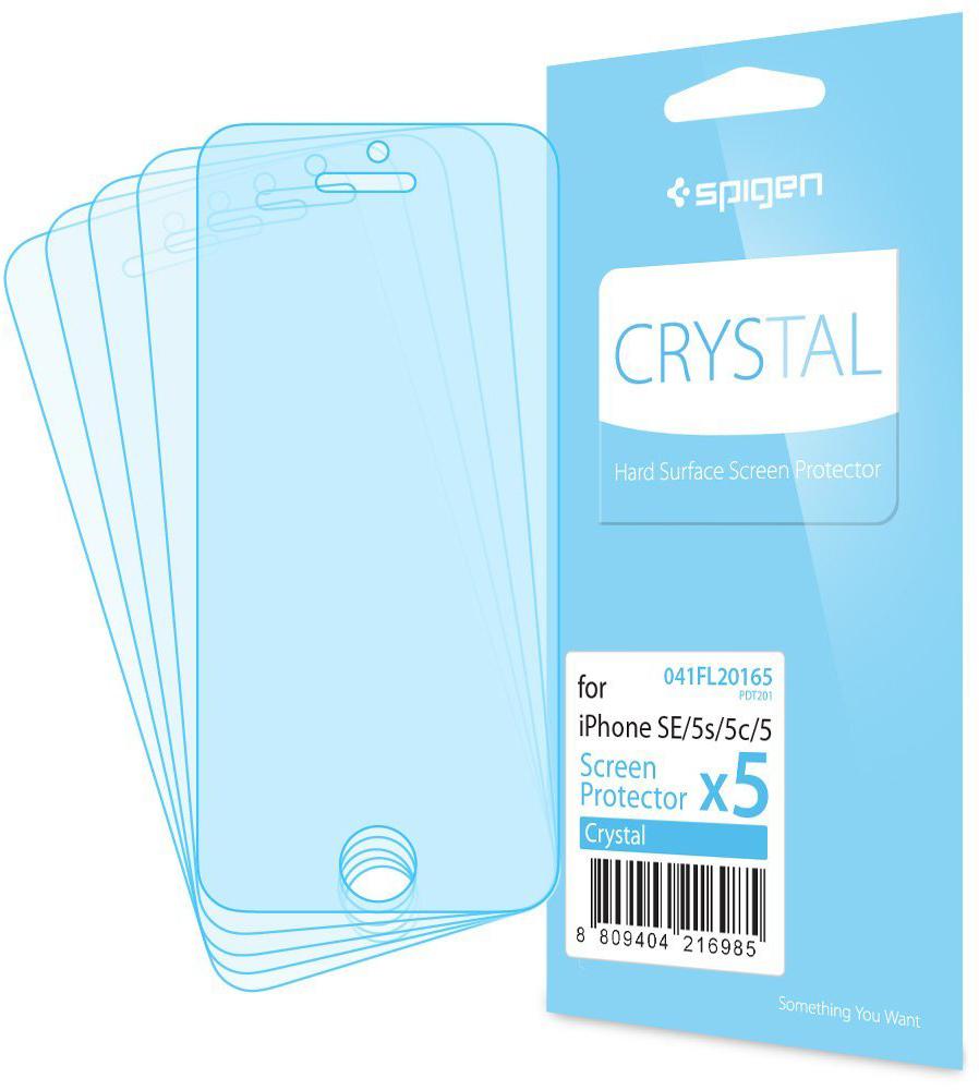Spigen Crystal (041FL20165) - защитная пленка для iPhone SE/5S/5C/5 (Clear)