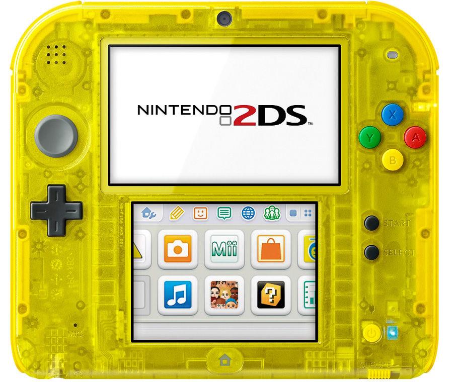 Nintendo 2DS + Pokemon Yellow - игровая приставка + игра (Yellow)