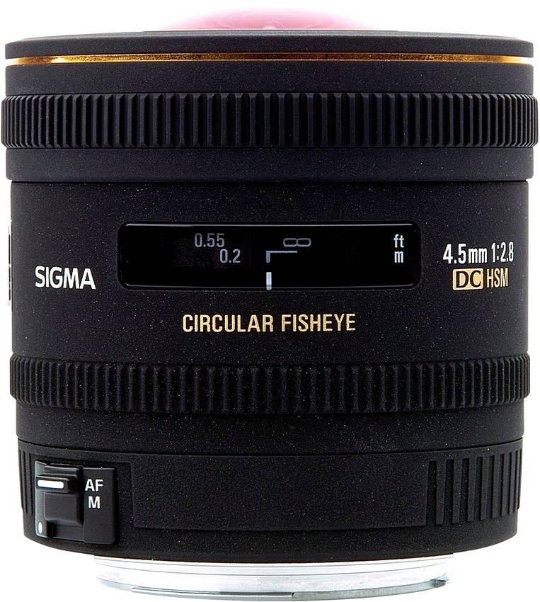 Sigma AF 4.5mm f/2.8 EX DC Circular Fisheye HSM 486955