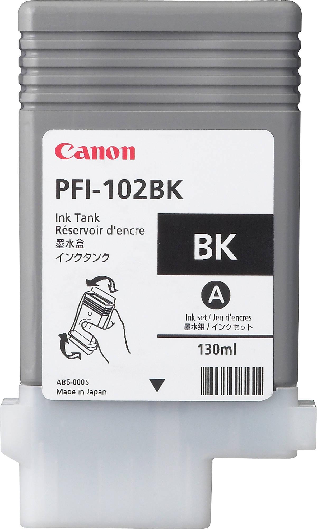 Canon PFI-102BK (0895B001) - картридж для принтеров Canon iPF500/600/610/700/710 (Black)