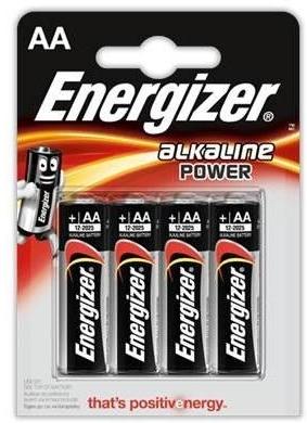 Energizer LR6/E91 AA - комплект батареек 4 шт.