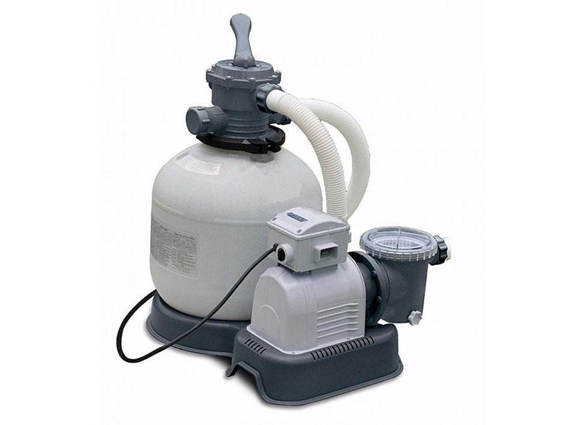 Intex Poump Filter (с28676) - фильтр насос песочный и система морской воды (Silver)